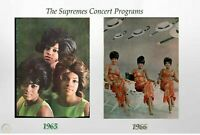 Diana Ross & The Supremes 1965 & 66 An Evening With THE SUPREMES 2Tour Programs