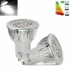 BOX OF 6 GU10 LED LIGHT BULB LAMPS 6W 50W PURE WHITE DAY HIGH POWER SPOTLIGHTS A