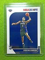 ZION WILLIAMSON ROOKIE CARD JERSEY#1 PELICANS RC 2019-20 Panini Hoops Basketball