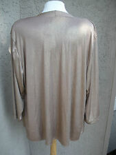 New Rare Soldout Chico's Travelers Gold Liquid Shimmer Jacket Top 3 XL 16/18 NWT