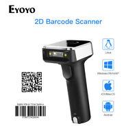 Eyoyo 1D & 2D Wired & 2.4G Wireless Bluetooth Barcode Scanner + USB Receiver