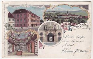 Seitenstetten,Gruss aus Seitenstetten,Litho,1897 gelaufen