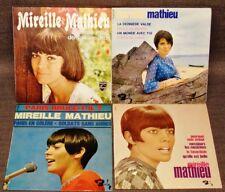 "MIREILLE MATHIEU Lot of 4 Various 7"" Vinyls EP FRANCE 60's POP"
