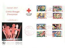 FRANCE / FDC CARNET CROIX ROUGE AUTO ADHESIF N° 1422 à 1429