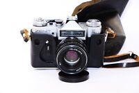 RARE ZENIT E EXPORT Edition RARE Soviet SLR film camera w/s lens Helios 44M EXC