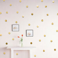 100x sticker mirror 2cm3d wall decal mosaic living room home decor round shap Fy