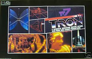 1982 ORIGINAL TRON MOVIE POSTER MINT CONDITION