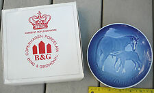 Bing & Grondahl Mother's Day Mors Dag porcelain plate 1972 horses