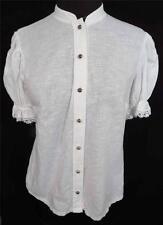 RARO Francés 588ms-591ms Wwii ERA BLANCO ESTILO ÉTNICO blusa del algodón talla