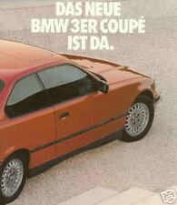 1992 BMW 318is 320i 325i COUPE BROCHURE-GERMAN TEXT