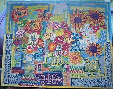 tres rare tapisserie,original,en laine,fait main,de gabriel Paris signé