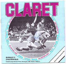 BURNLEY V CHESTERFIELD 1980 PROGRAMME ORIGINAL HAND SIGNED WITH 9 X SIGNATURES