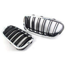 Pair Kidney Grill Grille Grills Chrome + Black M5 For BMW F10 F11 F18 5 Series