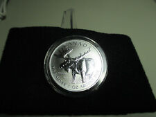 2012, 9999 fine 1 oz. Argent Pur Silver Canadian Moose 5 Dollars Coin
