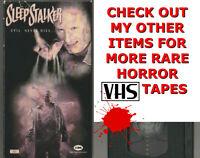 SLEEP STALKER Horror VHS video Movie Gore Cult Slasher Sex SLEEPSTALKER