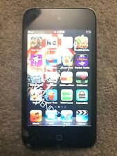 Apple iPod touch 4th Gen Black (32GB) Cracked Screen Games Apps 850+ Songs
