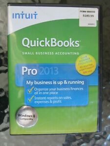 New Intuit QuickBooks Pro for Windows 2013 Full Retail Version