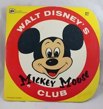 Vintage Disney Mickey Mouse Club Golden Shape Book 1979