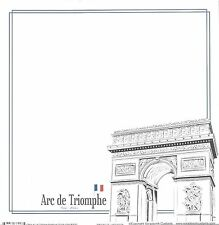 Scrapbook Customs -  Arc de Triomphe Scrapbooking Paper 38097 France Flag