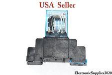 RELAY WITH BASE SOCKET 10AMP 250VAC USA Seller Fast shipping!!!
