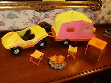 1972 BARBIE DUNE BUGGY W/ TRAILER CAMPER SET NEAR COMPLETE EXCELLENT COND.!!