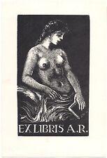 JOSEF HODEK: Exlibris für A. R., Halbakt