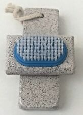 2ct Pumice Stone Set Foot Scrubber-Bristle Brush For Ultimate Smooth Feet-Blue