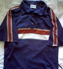 Vintage Off Shore Striped Polo Shirt L m 70s surf skate