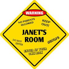 """*Aluminum* Janet 4/"""" x 18/"""" Metal Novelty Street Sign  SS 1888"""
