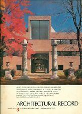 Architectural Record. March 1978. No 3