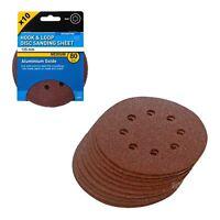 10 x Hook and Loop 125mm Sanding Disc 80 Grit Palm Sander Orbital Circular Pads