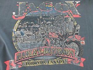 Vtg 1996 Harley Davidson Toronto Canada Milwaukee T-shirt Size XL