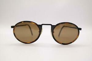 Vintage Mossimo Brando 004 Black Braun Oval Sunglasses Glasses NOS