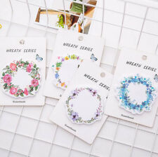 Flower Wreath Sticky Notes Bookmark Memo Guestbook Stickers Tab Index Stationery