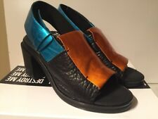 I Desire The Things That Will Destroy Me Black/Cobalt/Orange Sandals Shoes 10