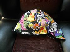 Wendys Welding Welding Hat Made With Day Of The Dead Fabric New!!!