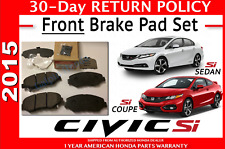 2015 HONDA CIVIC SI COUPE 45022-TR7-A02 GENUINE OEM BRAKE PADS