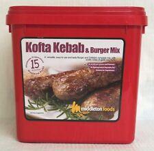 Middleton Foods �ŸŒ� KOFTA KEBAB & BURGER MIX Seasoning Mix 2.5kg Red Tub