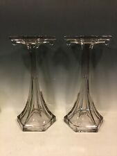 """2 Antique Glass Shelf Risers Pedestals General Store Display Hat Stand 15"""""""