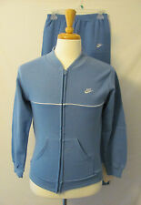 NWT Vintage Nike Mens Baby Blue Made in the USA Tracksuit Jacket and Pants M