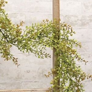 Farmhouse Country Primitive BABYS GRASS GARLAND LIGHT GREEN Floral 6 ft.