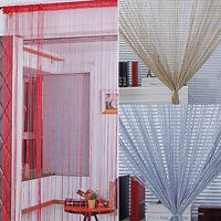 EG_ Door String Curtain  Thread Fringe Window Panel Room Divider Tassel Decor