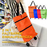 2 In 1 Foldable Shopping Cart Portable Folding Grocery Bag Tote Market Trolley