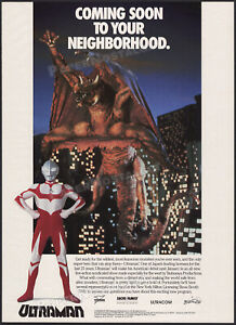 ULTRAMAN: The Ultimate Hero__Orig. 1991 Trade AD / poster__Tsuburaya Productions