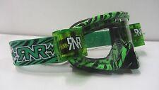 CHRISTMAS MTB Motocross Goggles Wild Black Green Rip N Roll Roll Offs RG20