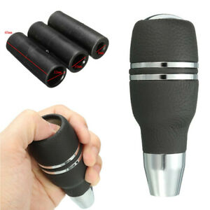 Aluminum Automatic Car Gear Stick Shift Knob Shifter Lever Head with 3 Adapters