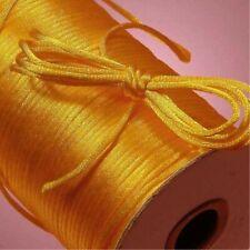 10yd 2MM Rattail Satin Cord Macrame Beading Nylon kumihimo String dark yellow