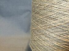 QUALITY YARN CONE 2 PLY LINEN / WOOL NATURAL COLOUR 850g 17 BALLS
