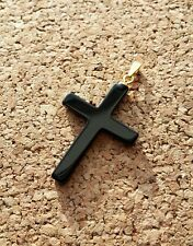Onyx Kreuz 3,5 x 2,5 cm Edelstein Onix Kreuz