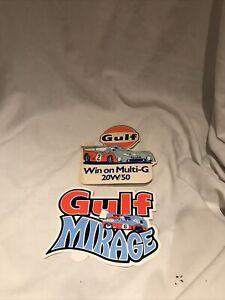 2 1970s Gulf Vintage Decal  Multi-G / Mirage Stickers Original